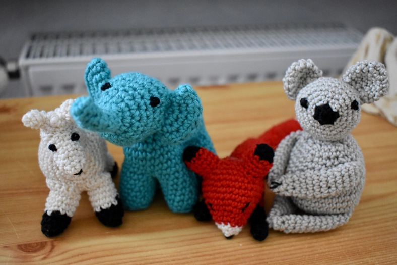 amigurumi family of four